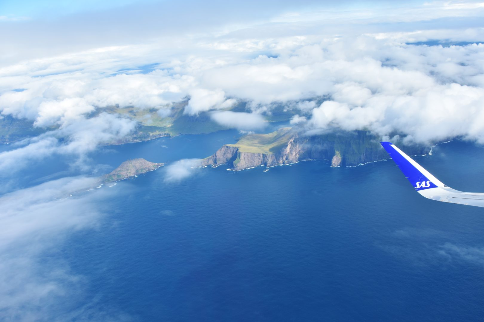 Le Isole Faroe viste dall'aereo