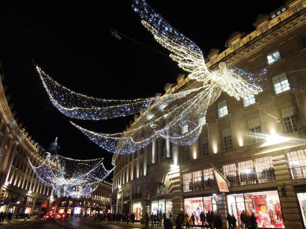 Luci di Natale a Regent Street