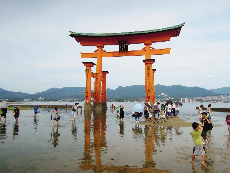 Itsukushima con l'alta marea