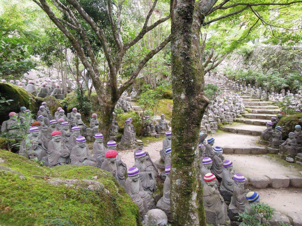 Statue nel tempio Daisho-in