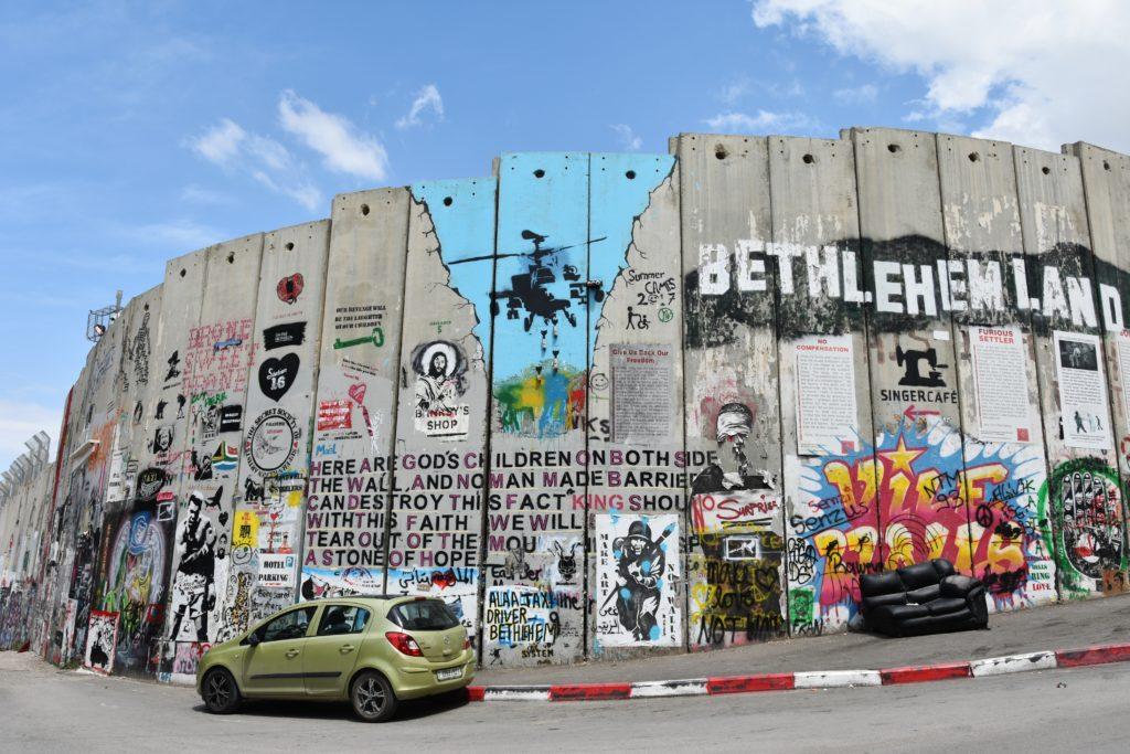 Il muro che divide Betlemme da Israele