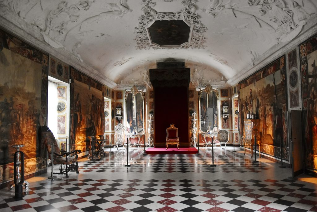 La Sala dei Cavalieri nel Castello di Rosenborg