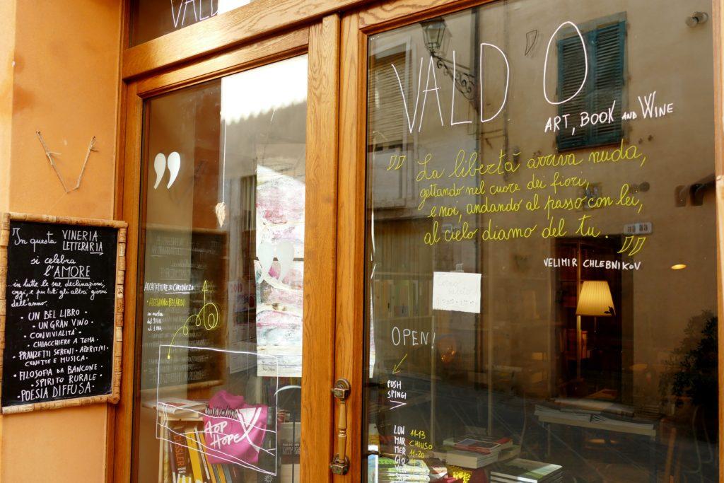 La libreria Vald'o a San Quirico d'Orcia