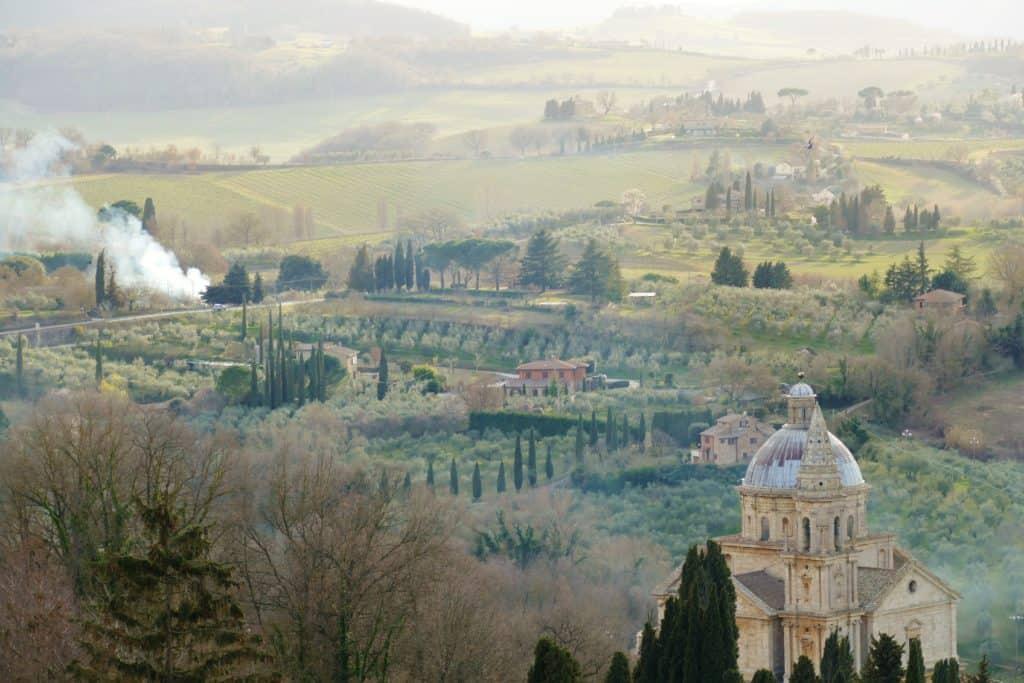 Panorama su Montepulciano