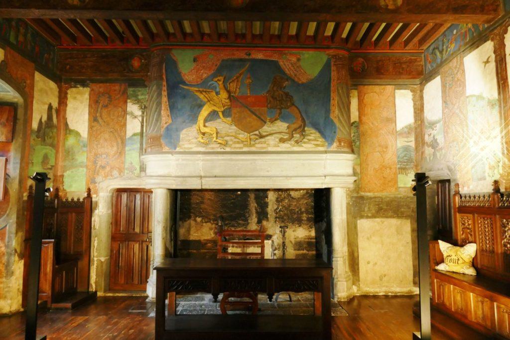 Il salone della giustizia del Castello di Issogne