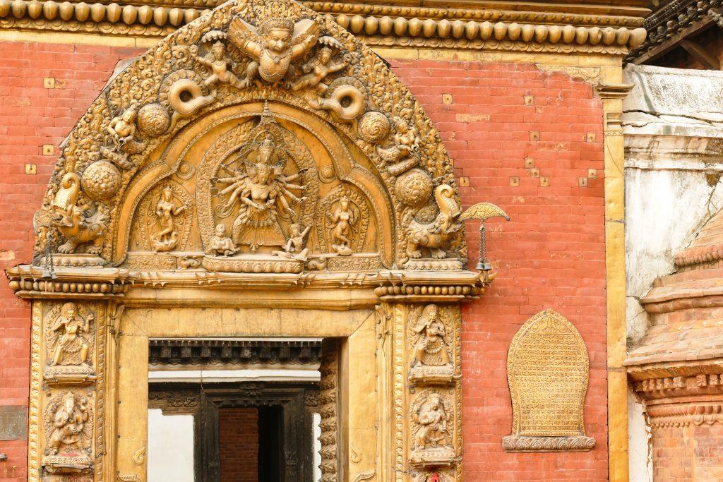 La porta d'oro del Palazzo Reale di Bhaktapur