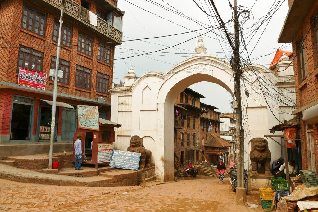 L'ingresso alla città vecchia di Bhaktapur