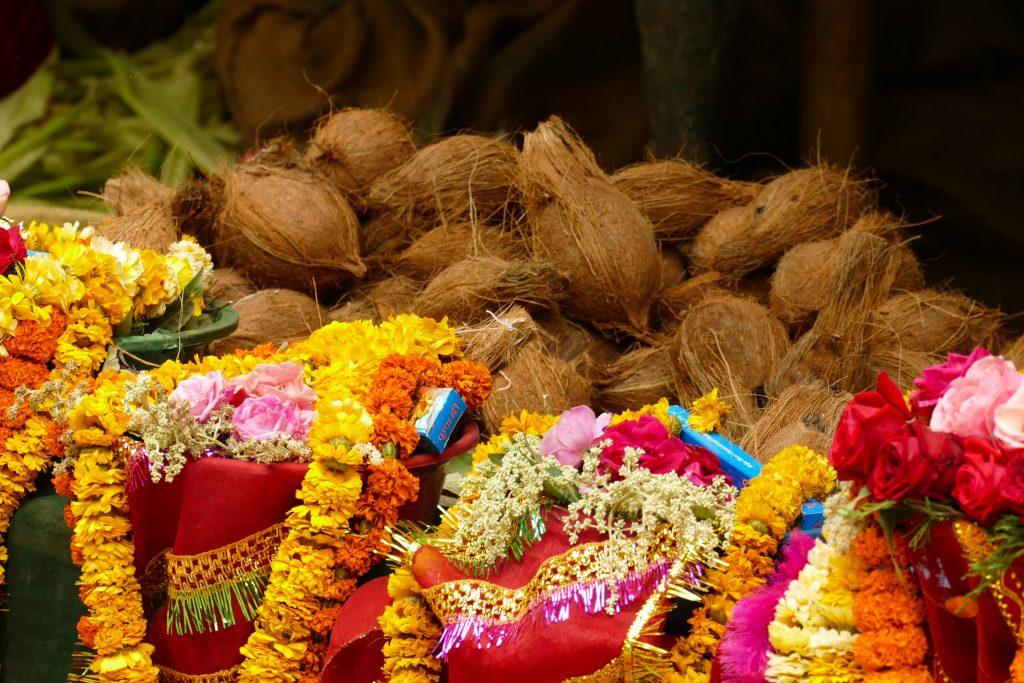 Noci di cocco al Dashinkali Temple