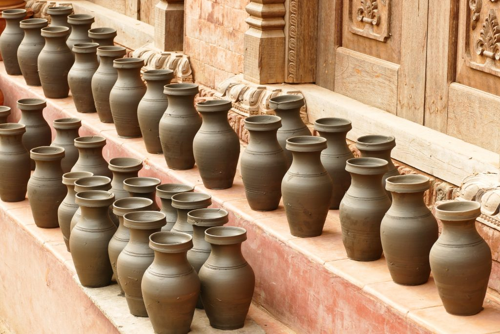 La piazza dei vasai a Bhaktapur