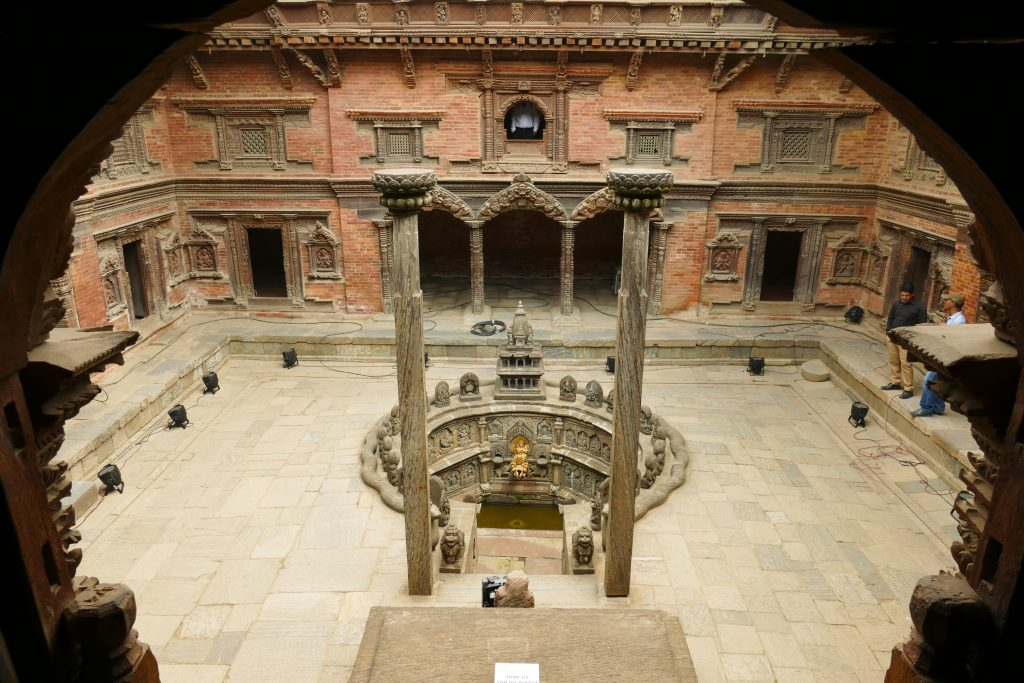 Il cortile interno del Palazzo Reale di Patan
