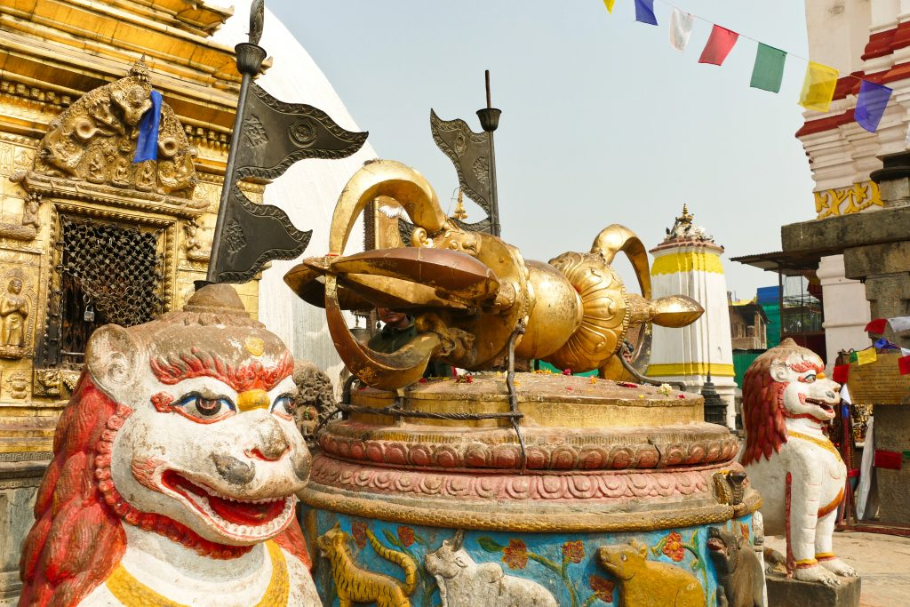 Statue al Swyambhnunath Temple