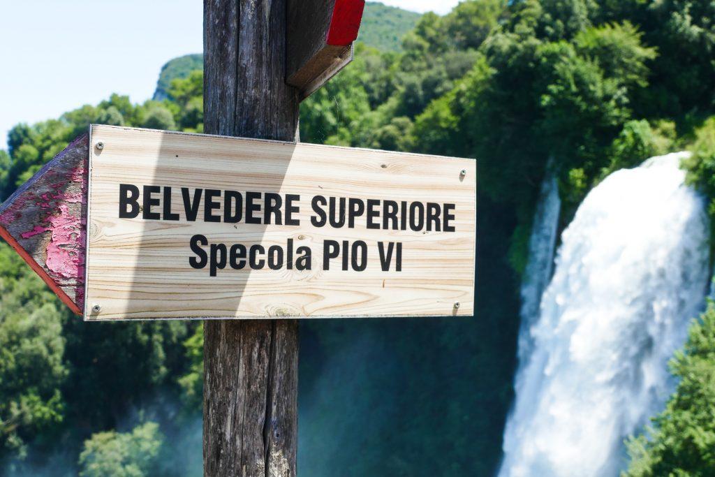 La vista sulla Cascata delle Marmore dalla Specola Pio VI