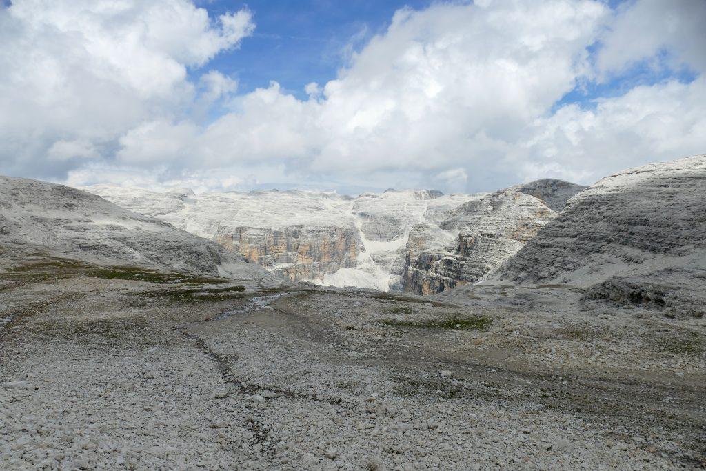 L'altopiano lunare del Sass Pordoi