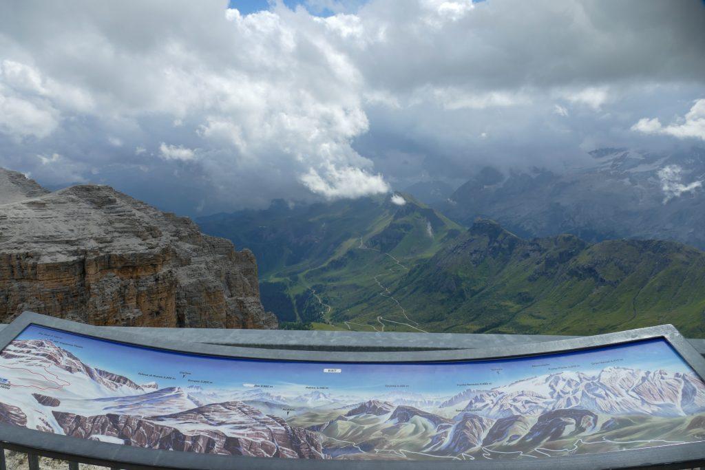 Panorama dal Sass Pordoi