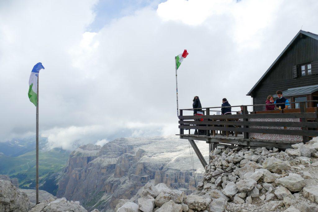 Panorama dal Rifugio Capanna Fassa