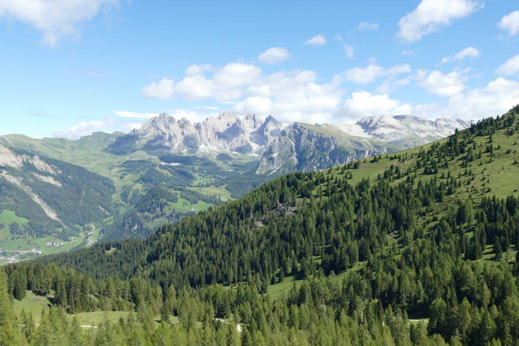 Il panorama verso l'Alpe di Siusi