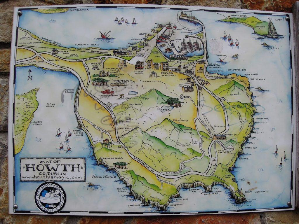 Cosa vedere a Howth: la mappa dei sentieri