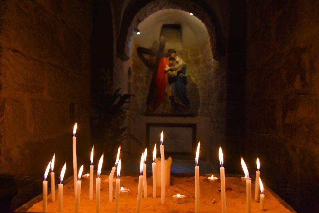La cappella dell'incontro di  Gesù con Maria