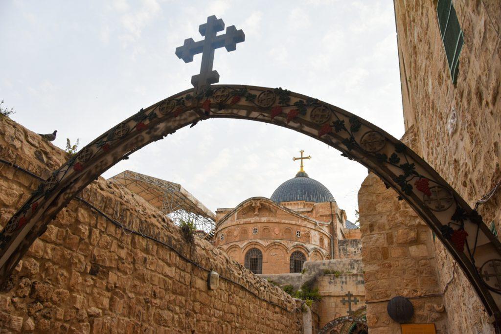 Il Monastero copto e la vista sul Santo Sepolcro