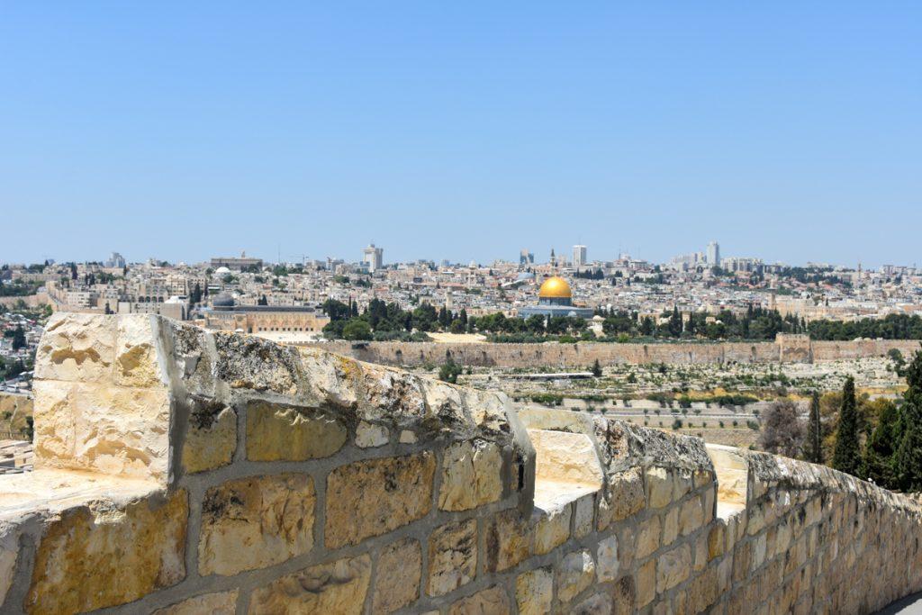 La scalinata che dal Monte degli Ulivi riconduce a Gerusalemme