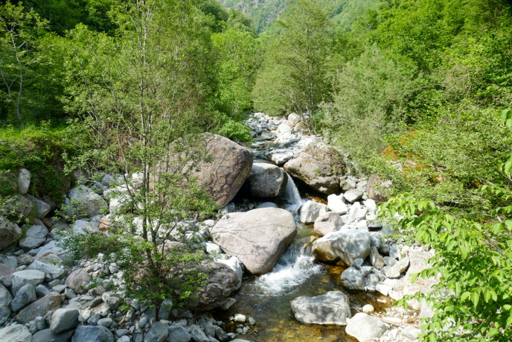 Il torrente Troggia sulla strada di ritorno